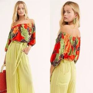 FREE PEOPLE - Electric Day Off-The-Shoulder Blouse